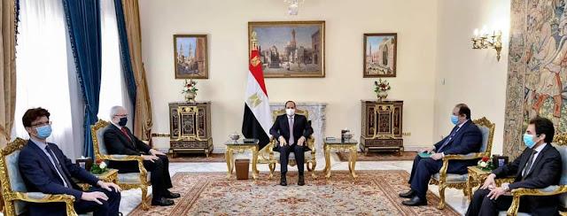الرئيس السيسي يستعرض مع رئيس المخابرات الفرنسى التعاون الثنائي الامني والعسكري بين مصر وفرنسا