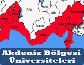akdeniz bölgesi üniversiteleri