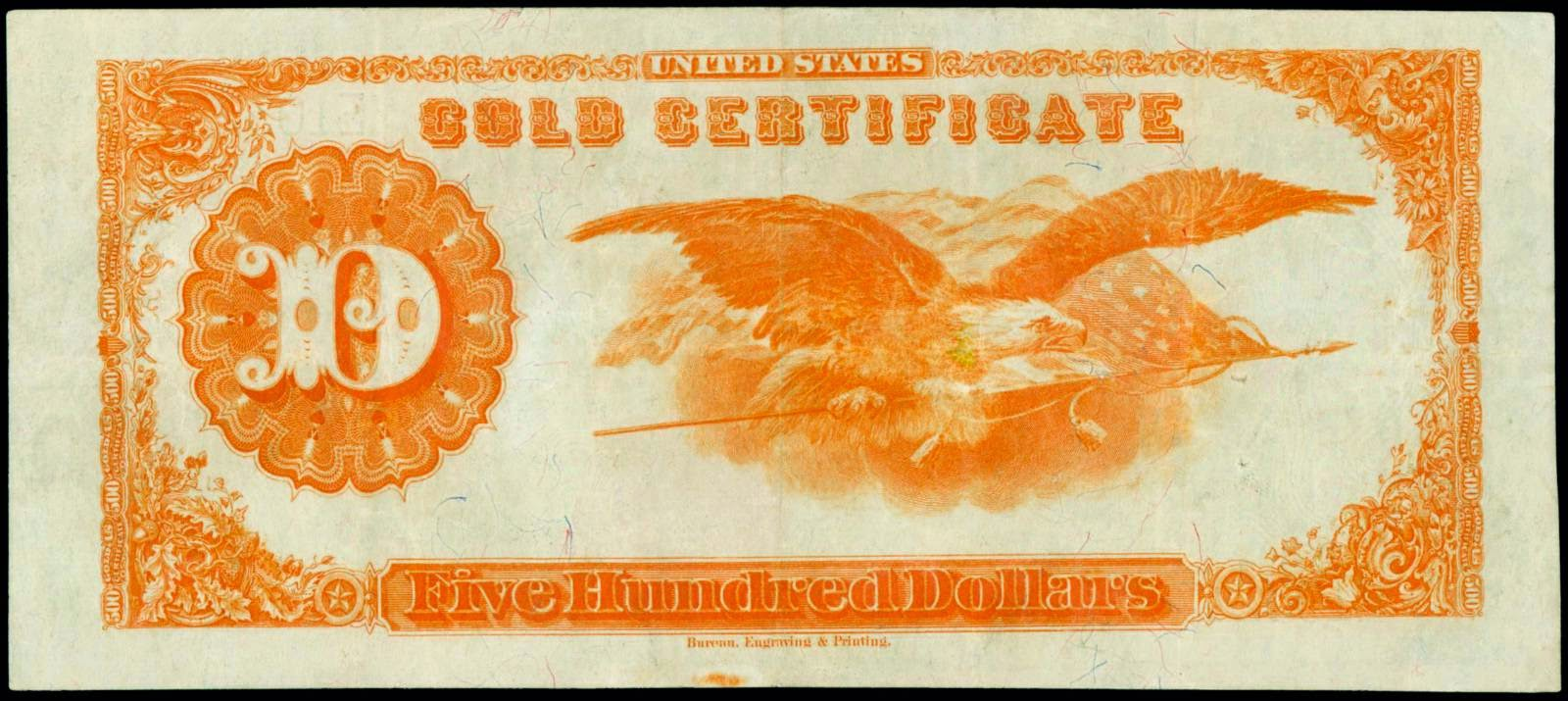 Five Hundred Dollar Gold Certificate Series 1922