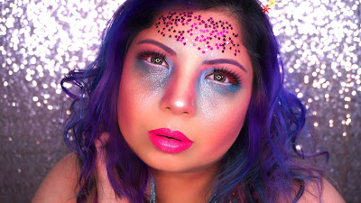Glitter Glam Unicorn Makeup Tutorial for Halloween, halloween makeup, halloween 2017, halloween makeup ideas, easy halloween makeup, unicorn hair, unicorn makeup looks, makeup artist, best makeup artist in Pakistan