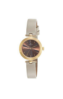 Titan analogue brown dial women's watches