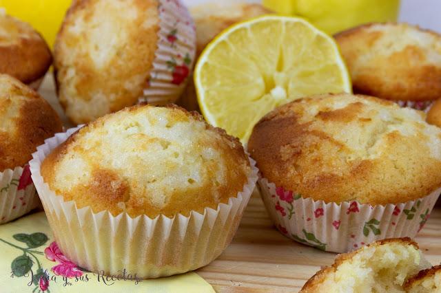 Magdalenas de limón. Julia y sus recetas
