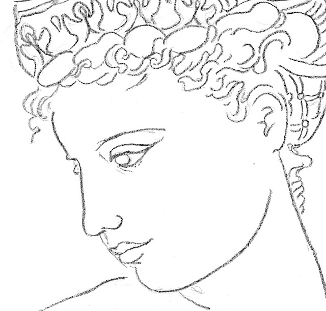 woman, diadem, Sarah, Myers, art, arte, crown, headdress, Greek, classical, charcoal, drawing, sketch, fashion, dibujo, profile, lady, figurative, minimal, line, line-drawing, face, head, hair, hairstyle, style, simple, minimalism, minimalist, black, white, lines, artwork, portrait, graceful, detail, close-up, eyes, mouth, contemporary, modern