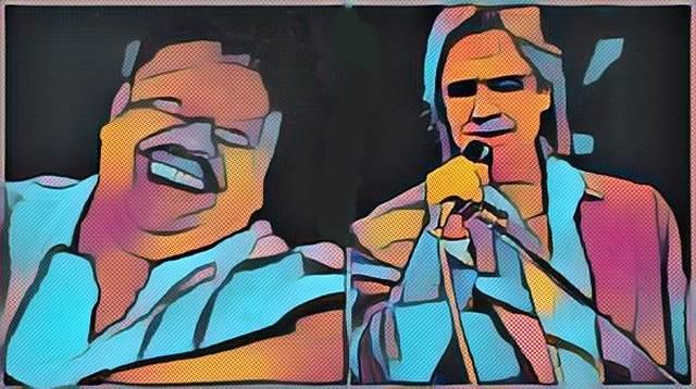 Roberto Carlos e Tim Maia, dos dois grandes cantores da história da música brasileira