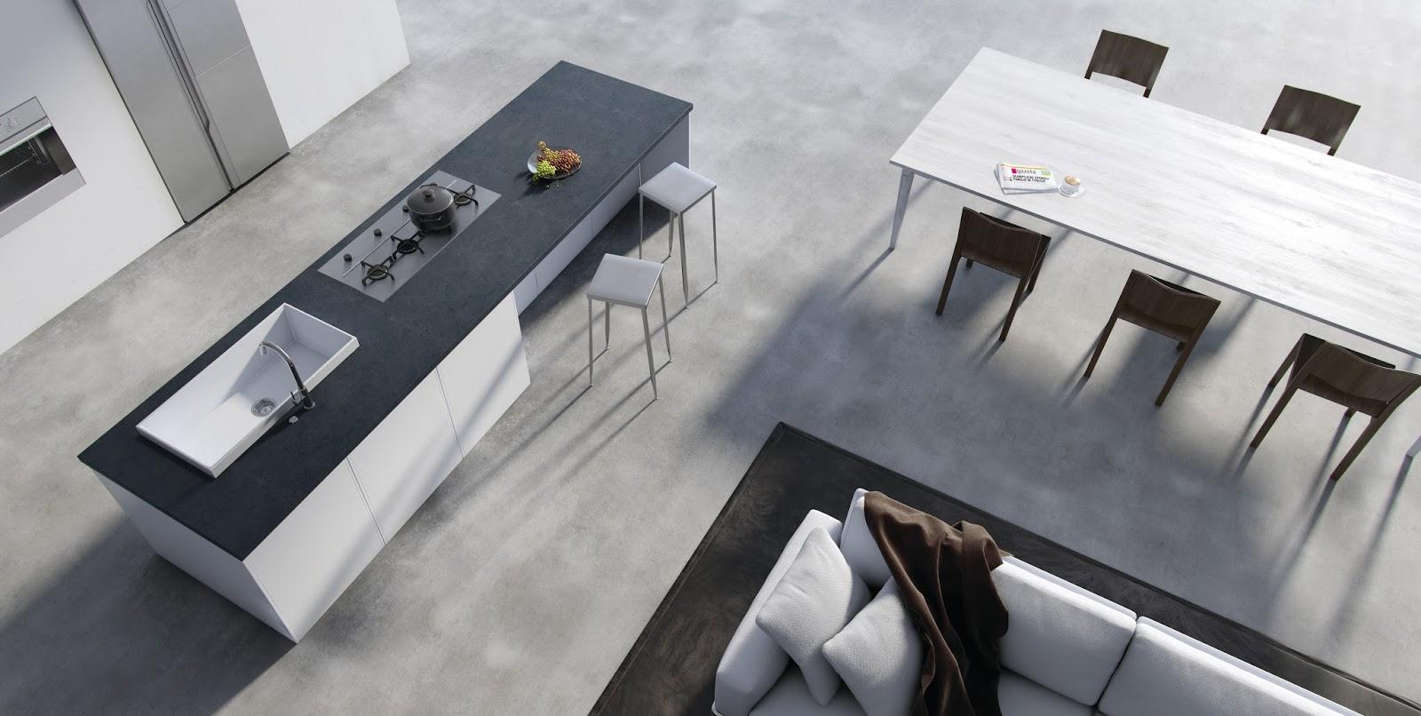 Chiuveta moderna din granit compozit Marmorin OLWIN cu design HighRise