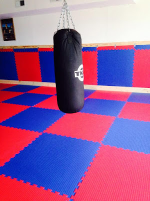 Greatmats martial arts foam tiles as wall padding