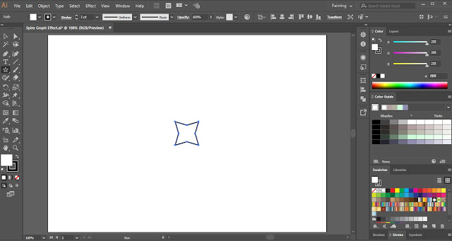 Spiro Graph Effect in Adobe Illustrator