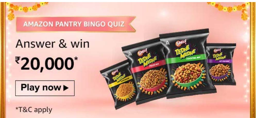 Amazon Pantry Bingo Quiz Answers