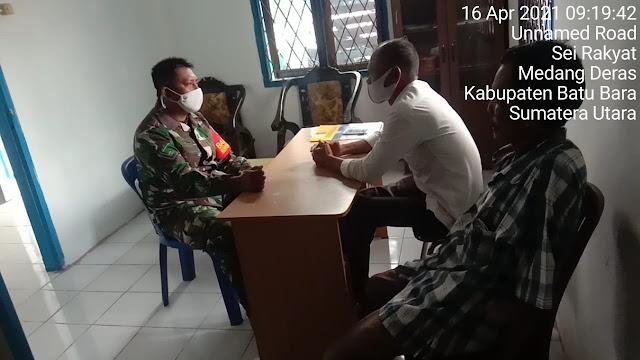 Dengan Cara Komsos Personel Jaajran Kodim 0208/Asahan Jalin Silaturahmi Dengan Aparat Desa