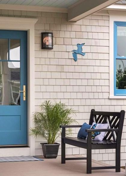 coastal house shingle art