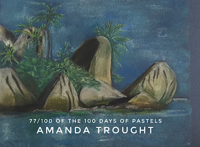 Figurative and Seascape Pastel Painting by Artist Amanda Trought