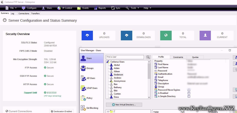 Cerberus.FTP.Server.Enterprise.10.0.6 Full Key Download, Siêu ứng dụng trong việc sử dụng FTP