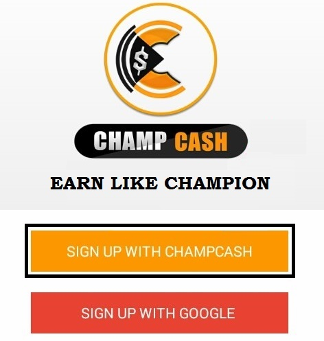 Sign up With Champcash