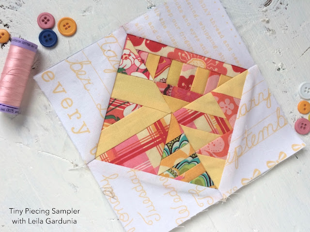 "6"" quilt block tutorial, made with foundation paper pieced Scrappy Triangles"
