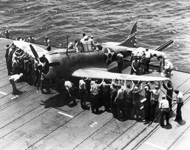 "Douglas SBD ""Dauntless"" aboard the USS Enterprise (CV-6) April 17, 1942 worldwartwo.filminspector.com"