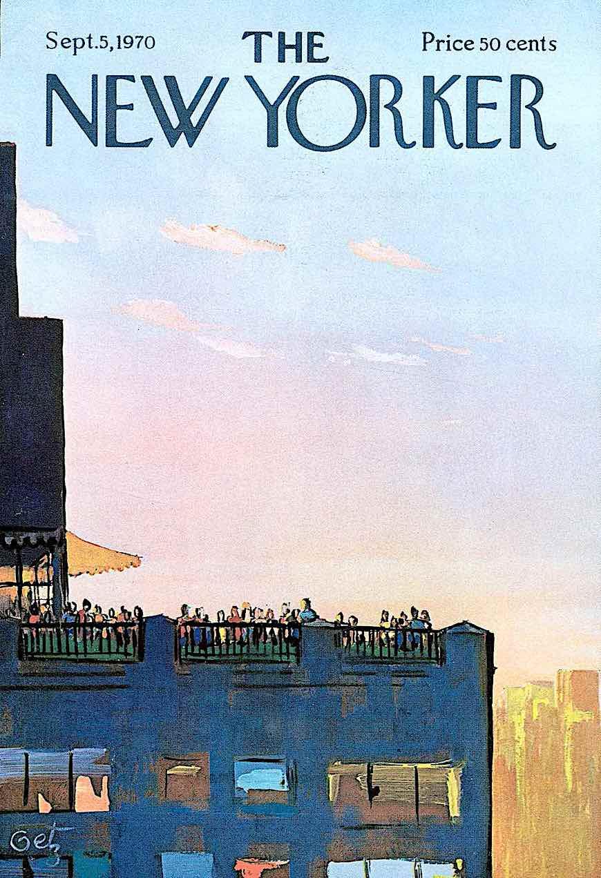 an Arthur Getz illustration for The  New Yorker magazine September 1970