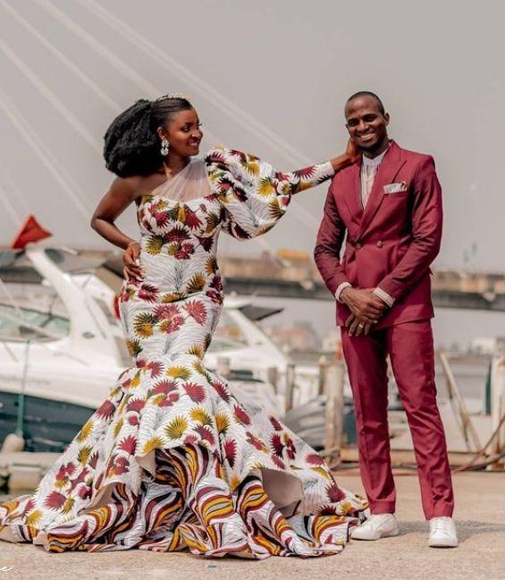 Ankara wedding dress style ffor Bride