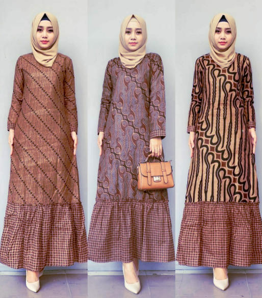 Dress Remaja Muslimah Model Batik