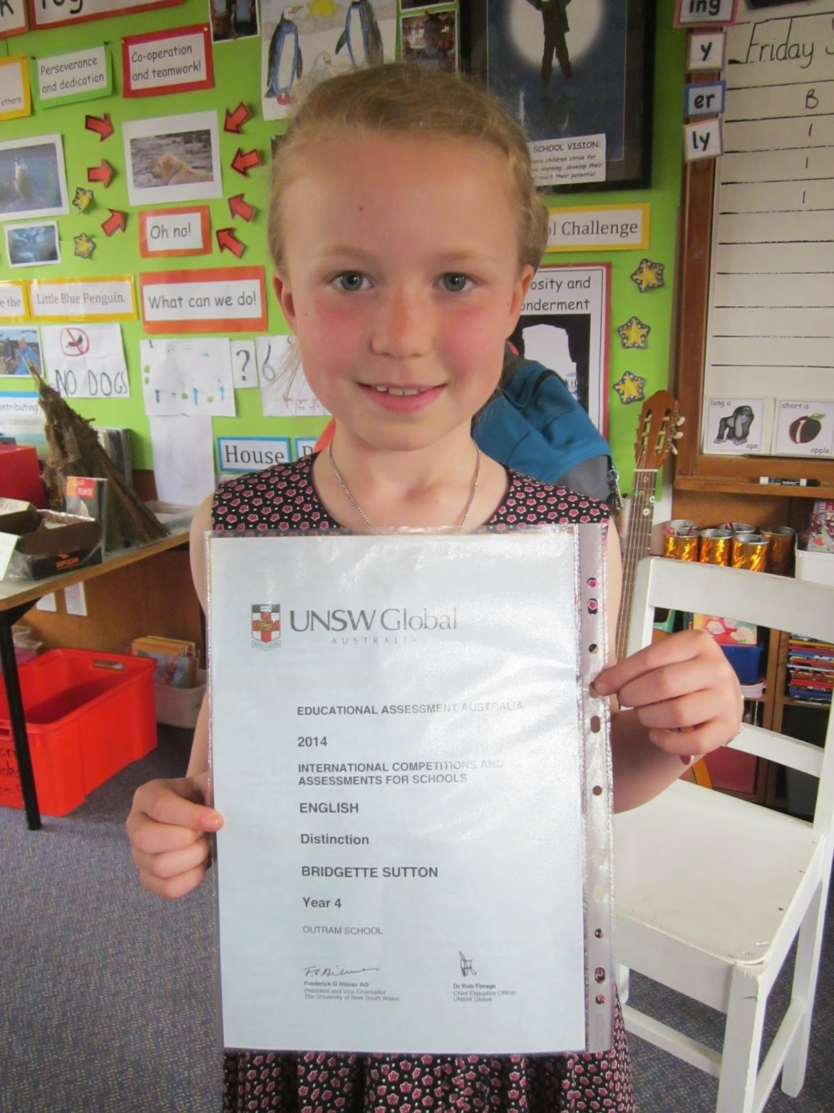 Room 9 you shine all the time: Bridgette gains distinction with ICAS