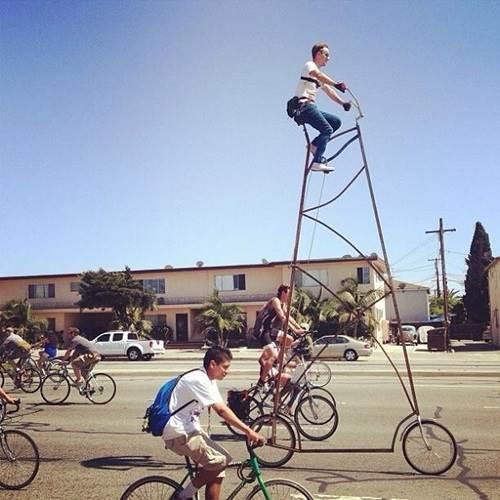 basikal tinggi 4 meter