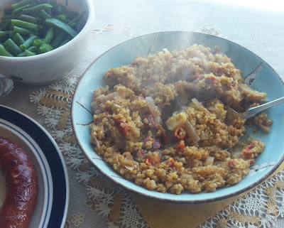 Onion, Mustard & Red Pepper Bulgur
