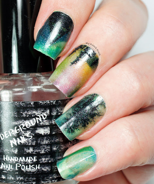 Northern Lights Nail Sticker