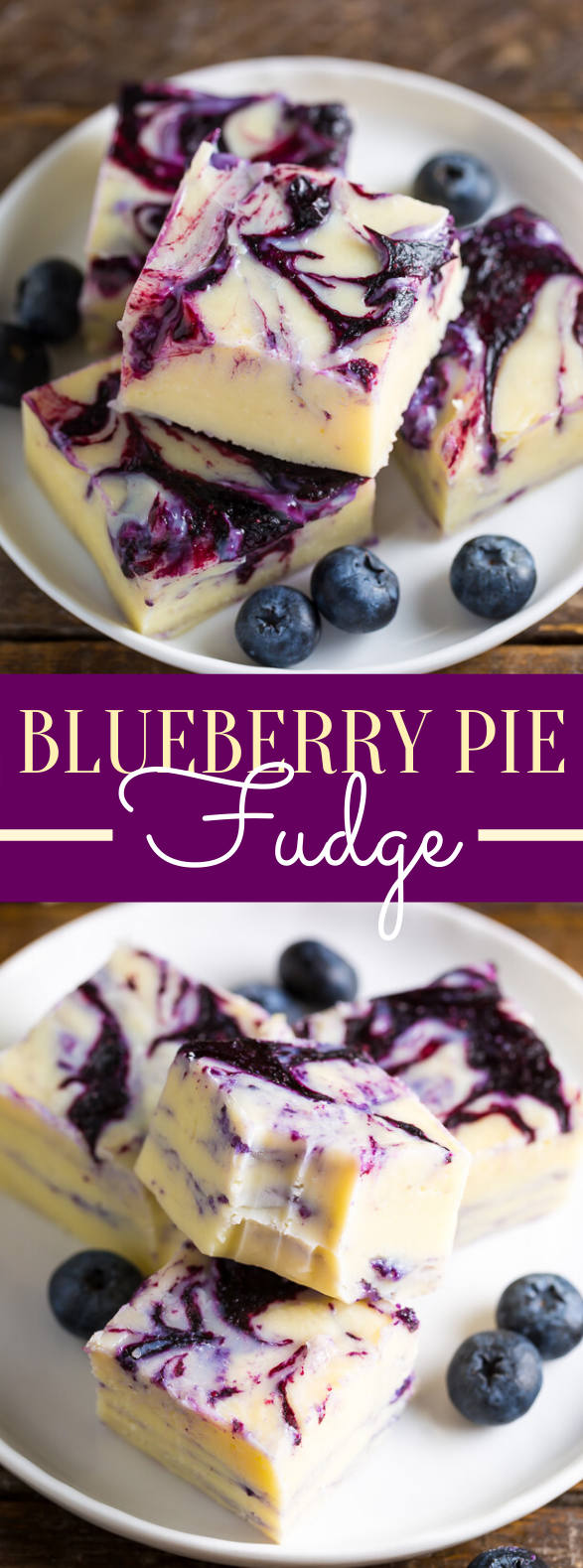 Blueberry Pie Fudge #desserts #frozenrecipes