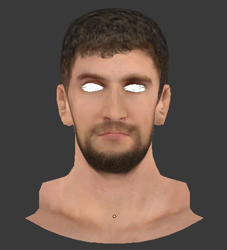 NBA 2K14 Spencer Hawes Face Hair Mod