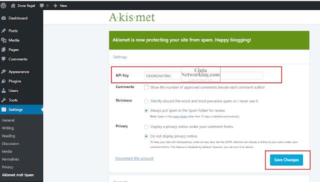 Cara Mudah Memasang Plugins Akismet Anti-Spam Di Worpress - Cintanetworking.com
