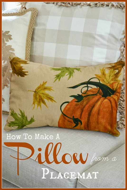 How To Make A Pillow From A Placemat Stonegable