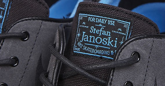 check out b99fa 3bbcb Nike SB Stefan Janoski – Black – Anthracite – Distance Blue   JustForKicks45