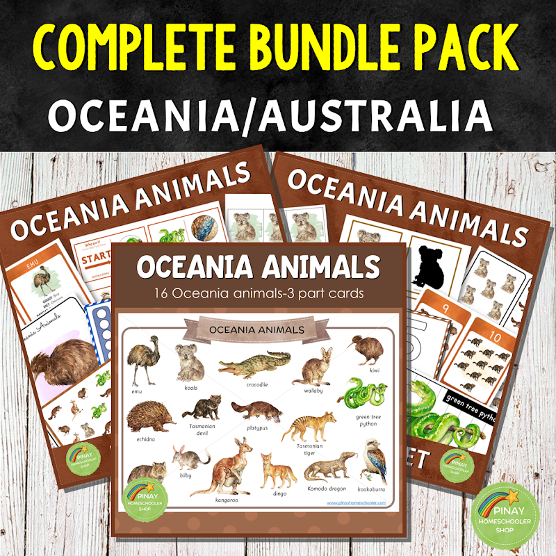 Oceania Australia Themed Math Learning Materials