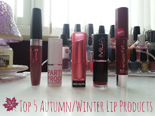 Top 5 Autumn/Winter Lip Products