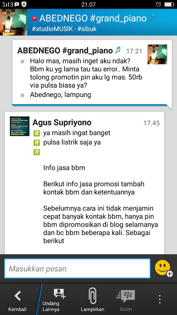 Repeat Order Pengguna Jasa Tambah Kontak BBM Agugus.com