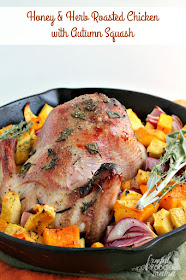 This Honey & Herb Roasted Chicken with Autumn Squash recipe is a delicious way to usher in the fresh & warm flavors of the fall season.