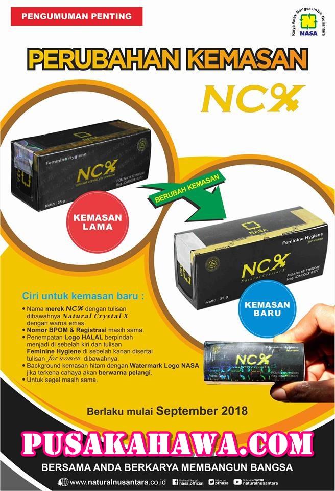 Kemasan baru NCX Nasa Crystal X September 2018 - obat keputihan alami dan cepat sembuh