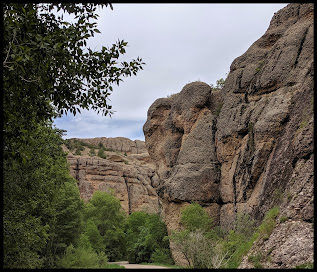 Cliff walls as you drive into Maple Canyon.
