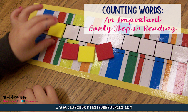 Young students need a great deal of phonemic awareness before reading can really begin. Counting words is an easy strategy to help students begin to see how sentences work.