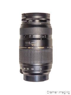Cramer Imaging's photograph of a Tamron telephoto camera lens