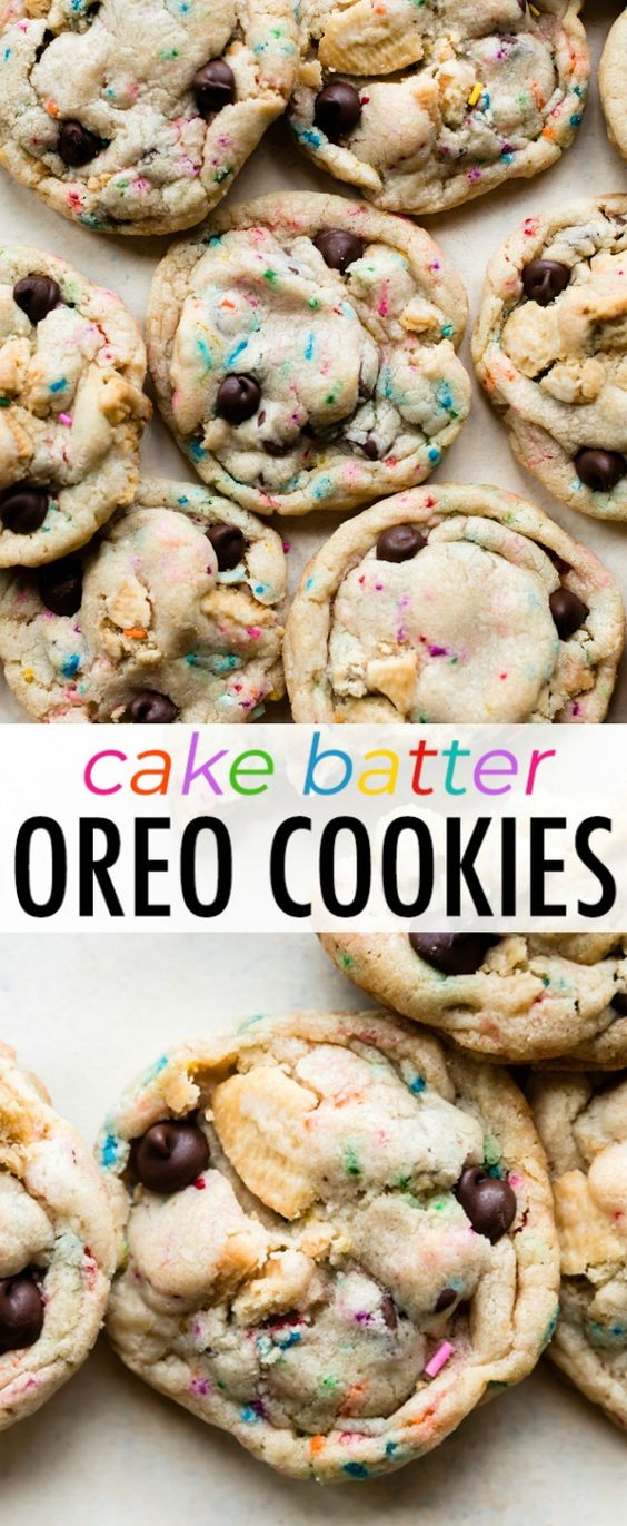 The Best Cake Batter Oreo Cookïes
