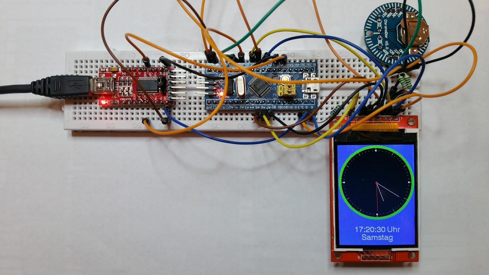 Thd arduino projekte analog uhr mit blue pill board
