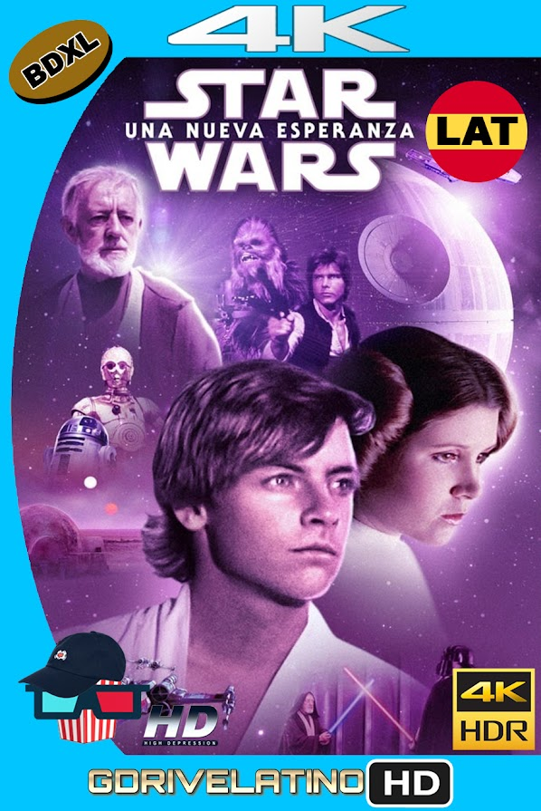 Star Wars : Una Nueva Esperanza (1977) BDXL 4K UHD HDR Latino-Ingles ISO