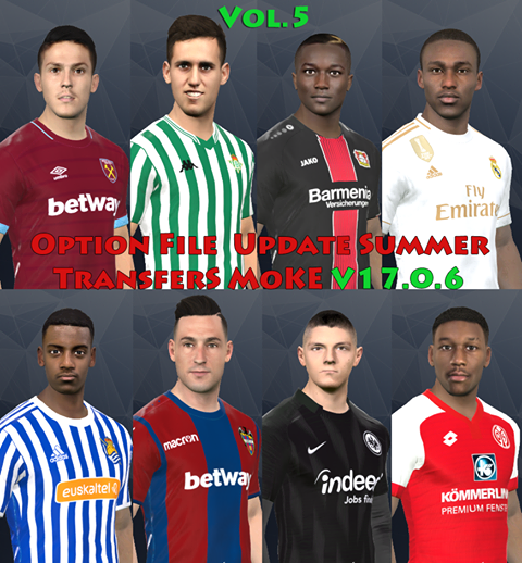 PES2017 Option File Update Summer Transfer SMoKE V17.0.6 (15-06-2019)