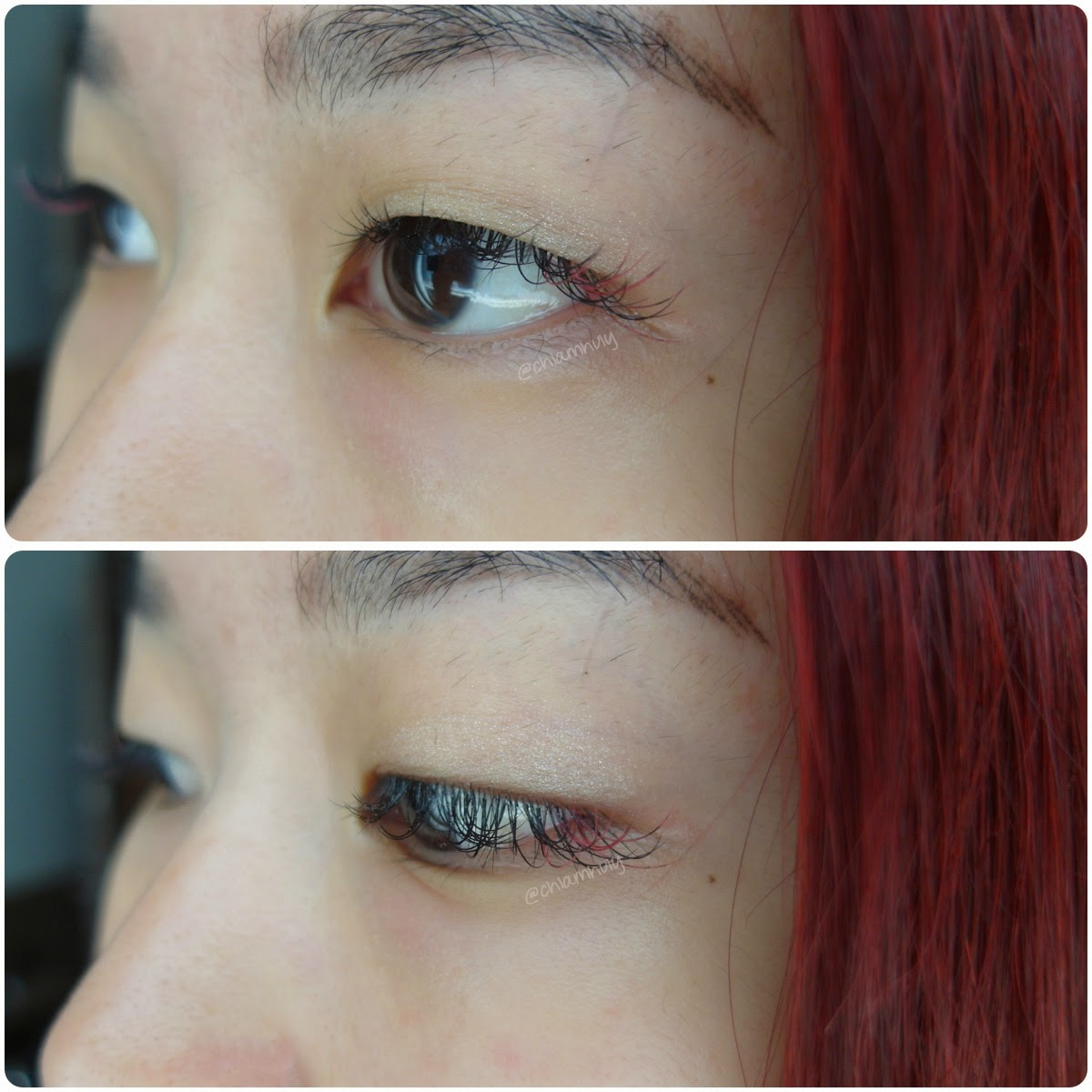 New Pair Of Eyelash Extension This Time Round I Have All C Curls Of Mm And A Few Strands Of Pink To Add Some Fun To It