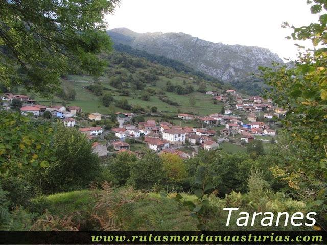 Ruta circular de Taranes al Tiatordos: Vista de Taranes, Ponga