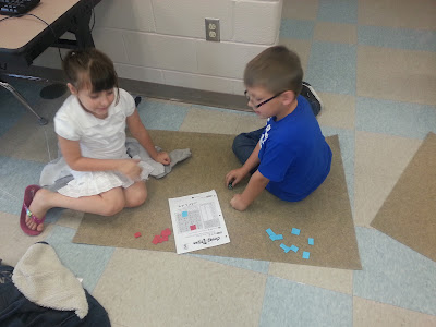 Daily 4 Math- Putting it all together- 4 math centers for hands-on work for primary grades