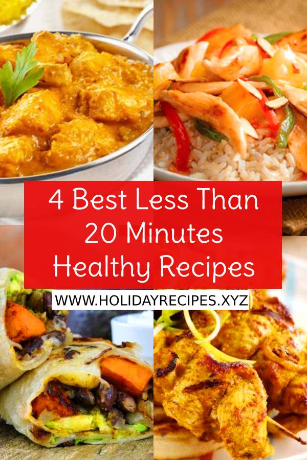 These are 4 Best Quick and Healthy Less Than 20 Minutes Recipes | www.holidayrecipes.xyz #healthydinnerrecipe #easyhealthyrecipes #healthyrecipes #easydinnerrecipe #easychickenrecipes #chickenrecipe #maindish #dish #bestdinnerrecipes #whole30 #healthychickenrecipe