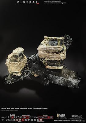 mineral, parisita, calendario