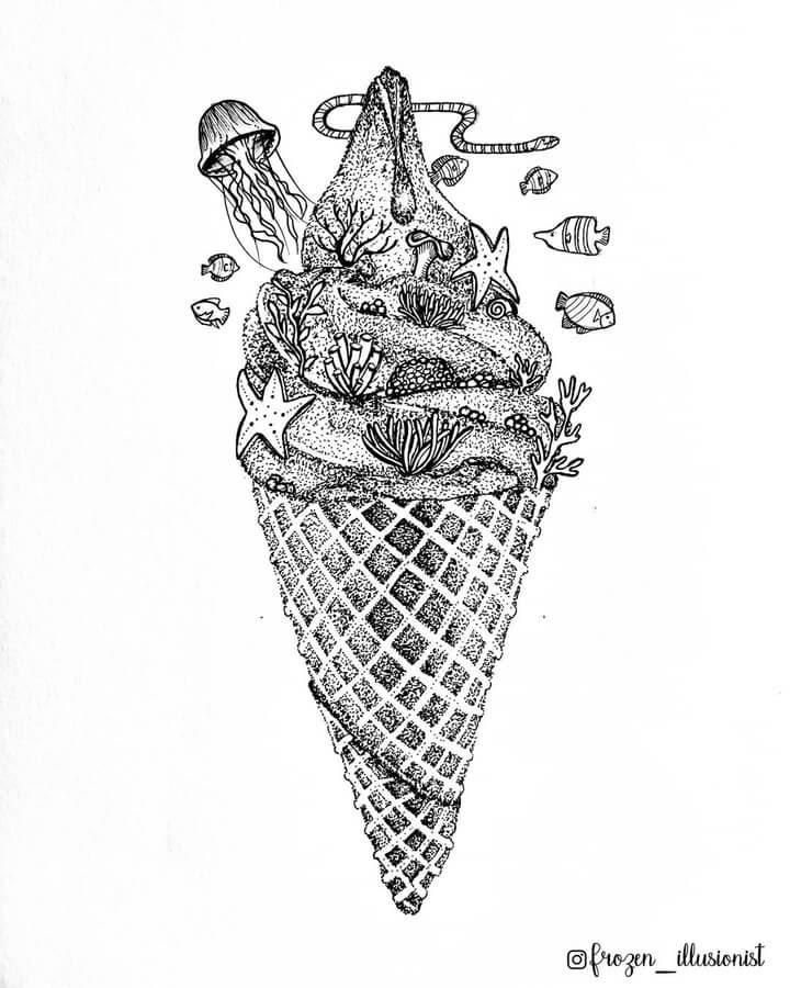 09-Coral-Ice-Cream-Cone-Fiona-Victoria-www-designstack-co