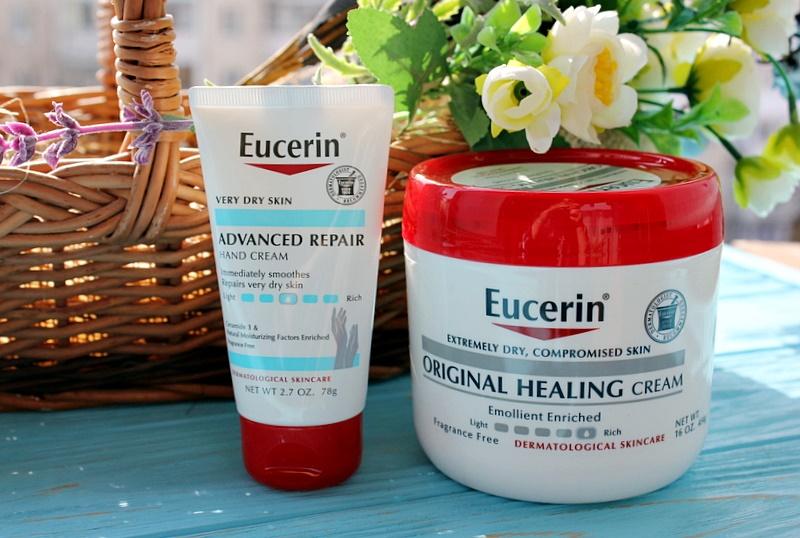 Eucerin: Крем для рук для продвинутого восстановления Advanced Repair Hand Cream и заживляющий крем для очень сухой кожи Original Healing Cream / обзор, отзывы